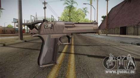 Desert Eagle 50 AE Silver für GTA San Andreas zweiten Screenshot