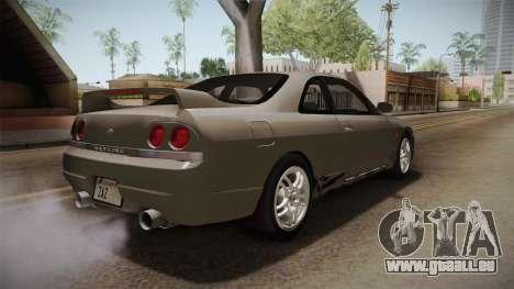 Nissan Skyline GTS25-t Mk.IX R33 Paintjob pour GTA San Andreas vue de droite