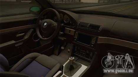 BMW M5 E39 Stock 2001 für GTA San Andreas Innenansicht