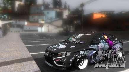 Lada Vesta ITASHA PROJECT NERV MISATO pour GTA San Andreas