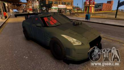 Nissan GTR Armored Grey 2017 für GTA 4