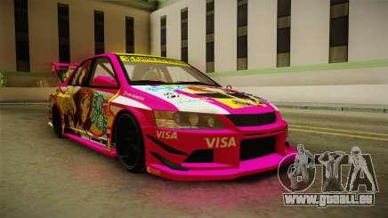 Mitsubishi Lancer Evo IX Oumae Kumiko Itasha für GTA San Andreas