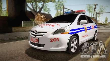 Toyota Vios Philippine Police für GTA San Andreas