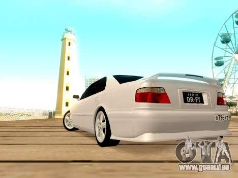Toyota Chaser für GTA San Andreas Rückansicht