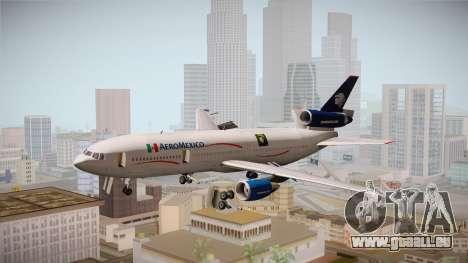 McDonnell-Douglas DC-10 Aeromexico pour GTA San Andreas sur la vue arrière gauche