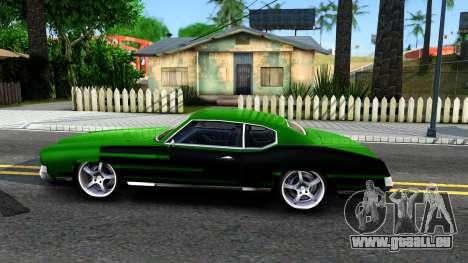Sabre Drift Green Strips pour GTA San Andreas laissé vue