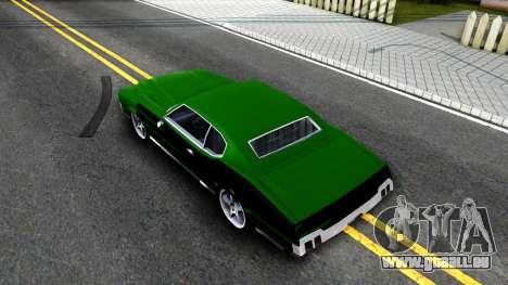 Sabre Drift Green Strips pour GTA San Andreas vue arrière