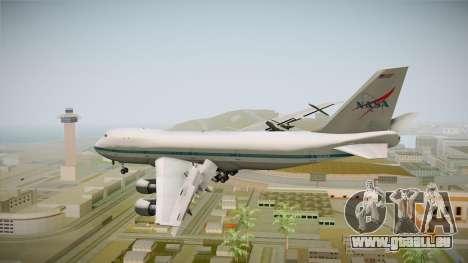 Boeing 747-123 NASA pour GTA San Andreas vue de droite