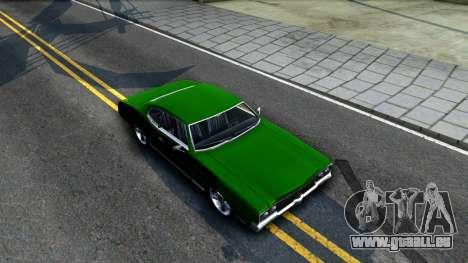 Sabre Drift Green Strips pour GTA San Andreas vue de droite