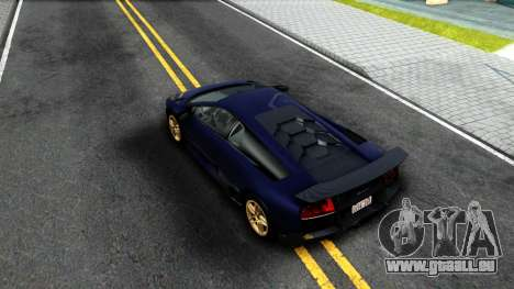Lamorghini Murcielago LP640-4 SV 2010 für GTA San Andreas Rückansicht