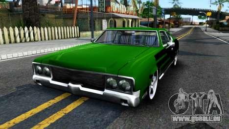 Sabre Drift Green Strips pour GTA San Andreas