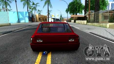 Vincent German Style pour GTA San Andreas sur la vue arrière gauche