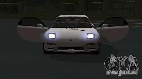 Mazda RX-7 1991 RUS pour GTA San Andreas vue arrière
