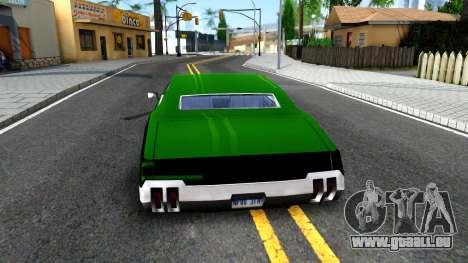 Sabre Drift Green Strips pour GTA San Andreas sur la vue arrière gauche