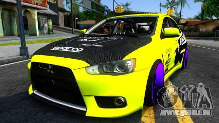 Mitsubishi Lancer Evolution X Tuning für GTA San Andreas
