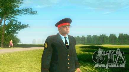 Le capitaine de la Police de la Russie dans sa tunique pour GTA San Andreas
