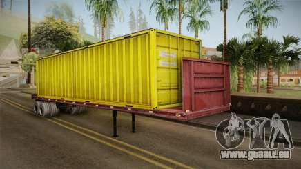 Yellow Trailer Container HD pour GTA San Andreas