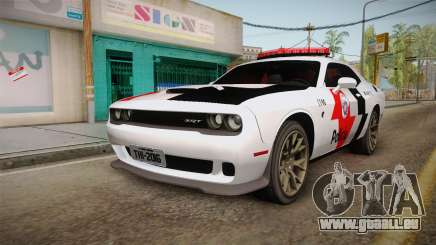 Dodge Challenger Hellcat 2012 PMSP pour GTA San Andreas