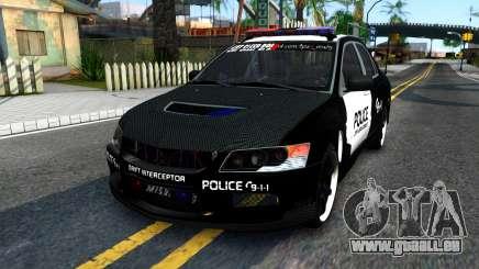Mitsubishi Lancer Evolution IX Police pour GTA San Andreas