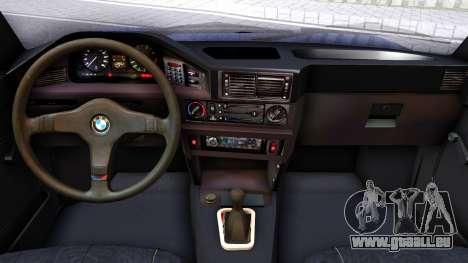 BMW E28 525e für GTA San Andreas Innenansicht