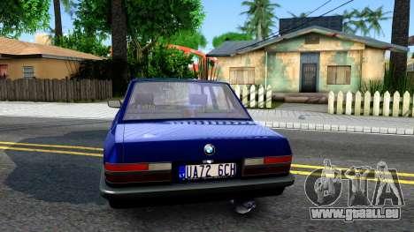 BMW E28 525e für GTA San Andreas zurück linke Ansicht