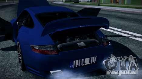 Porsche 911 Turbo 2007 für GTA San Andreas Unteransicht