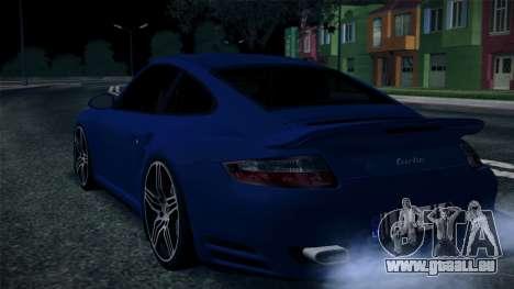 Porsche 911 Turbo 2007 für GTA San Andreas Innenansicht