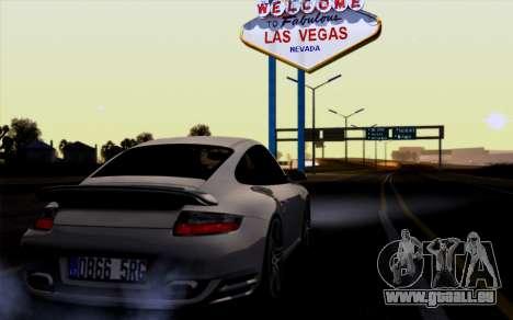 Porsche 911 Turbo 2007 für GTA San Andreas zurück linke Ansicht