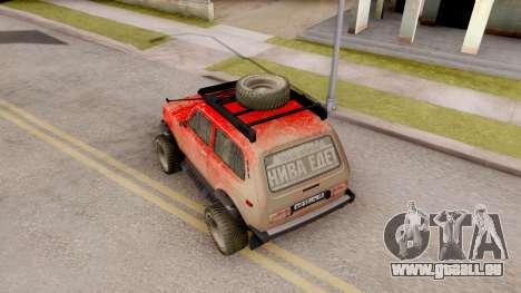VAZ Niva 2121 Offroad pour GTA San Andreas vue arrière
