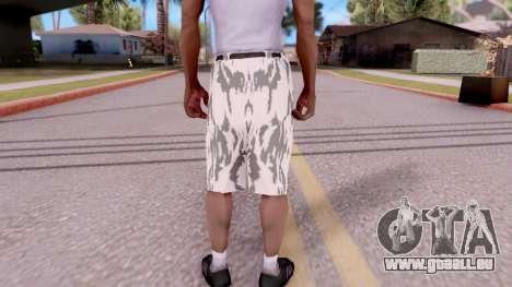 Culotte camo pour GTA San Andreas troisième écran