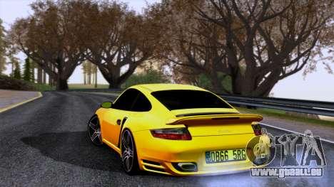 Porsche 911 Turbo 2007 für GTA San Andreas linke Ansicht