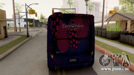 Scania K420 Eurovision 2017 pour GTA San Andreas sur la vue arrière gauche