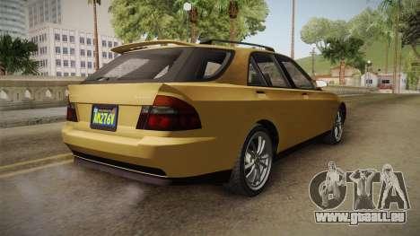 GTA 5 Karin Sultan SW IVF pour GTA San Andreas sur la vue arrière gauche