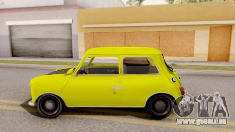 Mini Cooper 1300 Mr Bean für GTA San Andreas linke Ansicht
