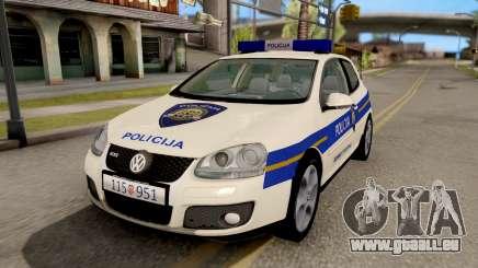 Volkswagen Golf V Croatian Police Car für GTA San Andreas