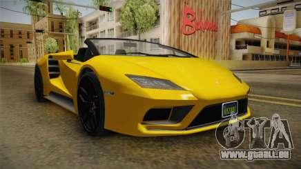 GTA 5 Pegassi Tempesta Spyder IVF für GTA San Andreas