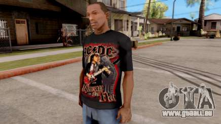 Black T-Shirt AC/DC für GTA San Andreas