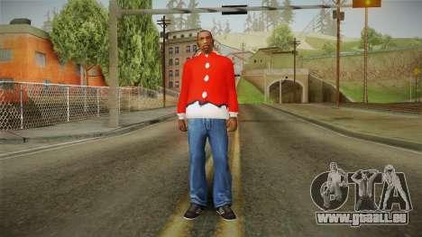 Veste rouge, Santa Claus pour GTA San Andreas troisième écran