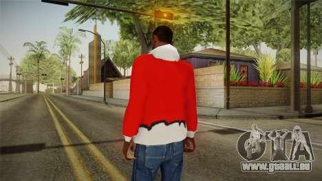 Veste rouge, Santa Claus pour GTA San Andreas deuxième écran
