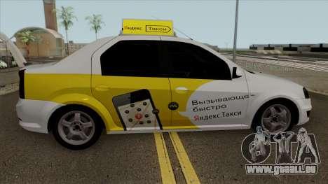 Renault Logan Yandex Taxi pour GTA San Andreas