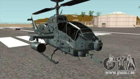 AH 1W Super Cobra Gunship pour GTA San Andreas