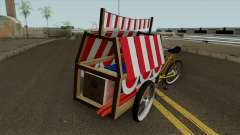 Indonesian Flag Seller Cart für GTA San Andreas