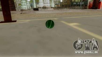 Green Basketball Ball by Vexillum für GTA San Andreas