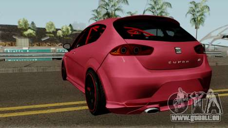Seat Leon Cupra R für GTA San Andreas zurück linke Ansicht