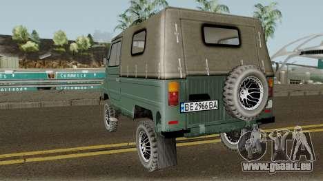 LuAZ-969М v3 für GTA San Andreas zurück linke Ansicht