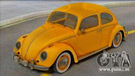 Volkswagen Beetle 1966 Yellow pour GTA San Andreas