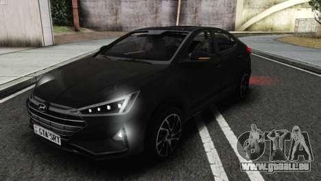 Hyundai Elantra Exclusive 2019 pour GTA San Andreas