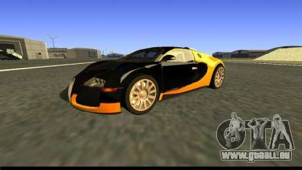 Bugatti Veyron 16.4 Carbone Or Noir [bêta] pour GTA San Andreas