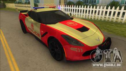 Corvette C7 Police für GTA Vice City