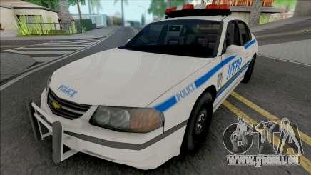 Chevrolet Impala 2003 NYPD (512x512 Texture) pour GTA San Andreas